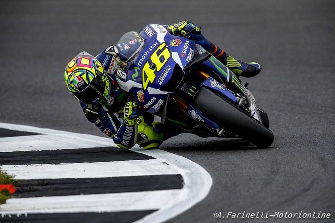 """MotoGP Silverstone: Valentino Rossi, """"E' stata una bella gara, mi sono proprio divertito"""""""