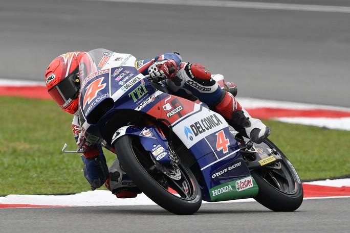 Moto3 Sepang: Di Giannantonio scivola e chiude 15°, Sasaki out