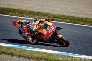 """MotoGP Motegi: Marc Marquez """"Oggi ho avuto un pò di culo, ma ringrazio la Honda che ha lavorato tantissimo"""""""
