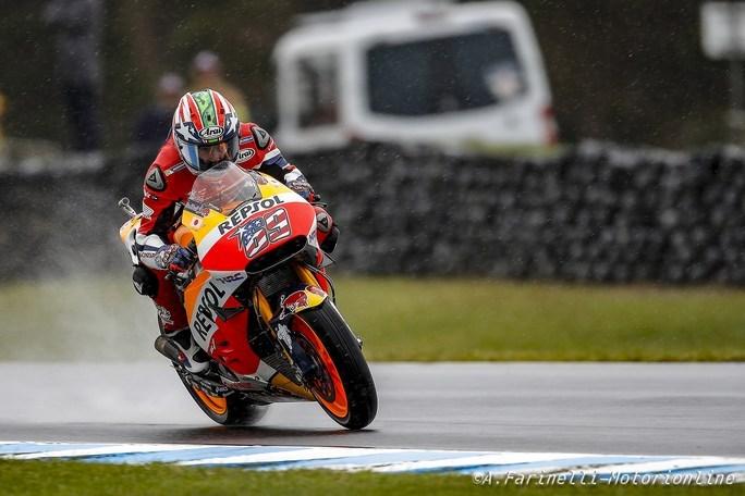 MotoGP Phillip Island, FP4: Meteo ancora protagonista, Hayden il più veloce
