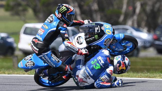Moto3: Frattura ad una vertebra per Bastianini, Malesia in dubbio
