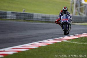 """MotoGP Sepang: Jorge Lorenzo """"Podio fortunato, ma con la pioggia devi cercare di restare in sella"""""""