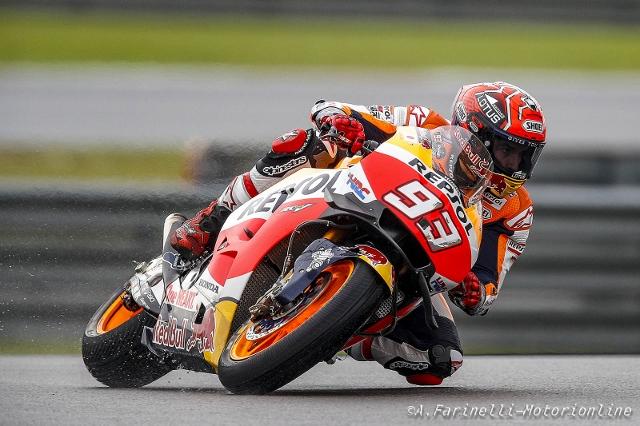 """MotoGP Sepang: Marc Marquez """"Ero pronto a lottare per il podio ma improvvisamente mi son steso"""""""