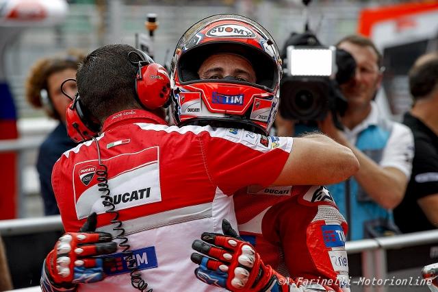 """MotoGP Sepang: Andrea Dovizioso """"Vittoria fantastica e l'ultimo giro ho pianto come un bimbo"""""""