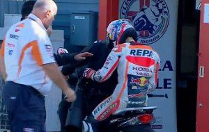 """MotoGP Motegi: Dani Pedrosa cade e si rompe """"Sono molto dispiaciuto per quanto successo"""""""