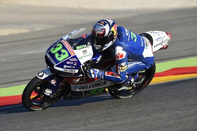 Moto3 Valencia, FP2: Bastianini porta in testa il tricolore
