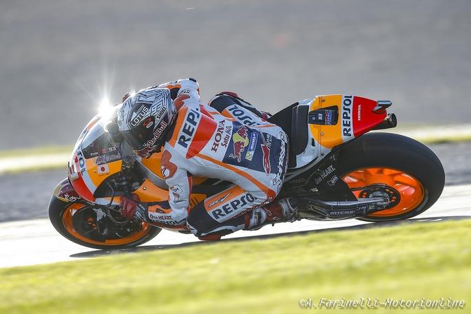 MotoGP Test Valencia Day 2 – 11:30: Marquez in testa prima della bandiera rossa