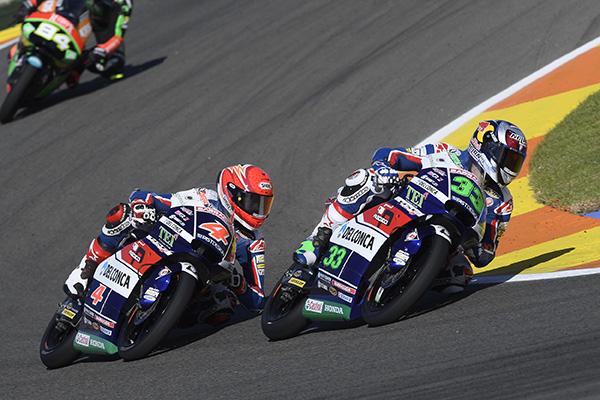 Moto3 Valencia: Ottimo risultato per il team Gresini, Bastianini 4° e Di Giannantonio 5°