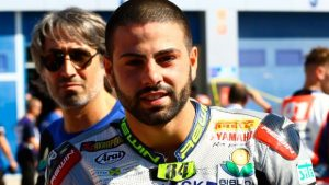 Riccardo Russo con Yamaha in Superbike nel 2017