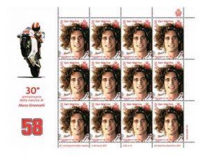 MotoGP: Un francobollo per ricordare Marco Simoncelli