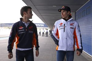 MotoGP Test Honda Jerez: Sublussazione della spalla per Marc Marquez