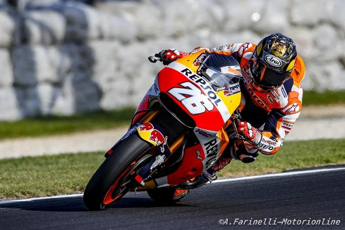 """MotoGP Test Phillip Island Day 2: Pedrosa, """"Bloccato dalle febbre"""""""