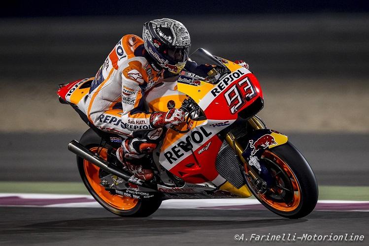 """MotoGP Test Qatar Day 3: Marquez, """"Sono contento del ritmo che abbiamo tenuto oggi"""""""
