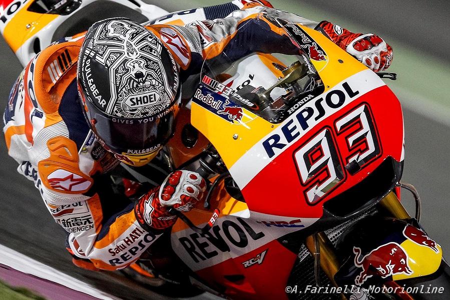 """MotoGP Preview Qatar: Marquez, """"Non è uno dei migliori tracciati per il mio stile di guida, ma mi piace"""""""