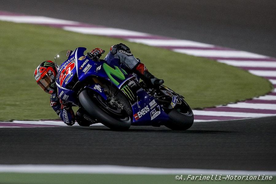 MotoGP Qatar, FP1: Vinales vola, Marquez a 6 decimi. Rossi 9°