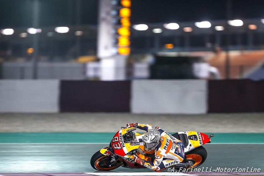 """MotoGP Qatar: Marquez, """"Ho lottato con l'anteriore per tutto il tempo"""""""