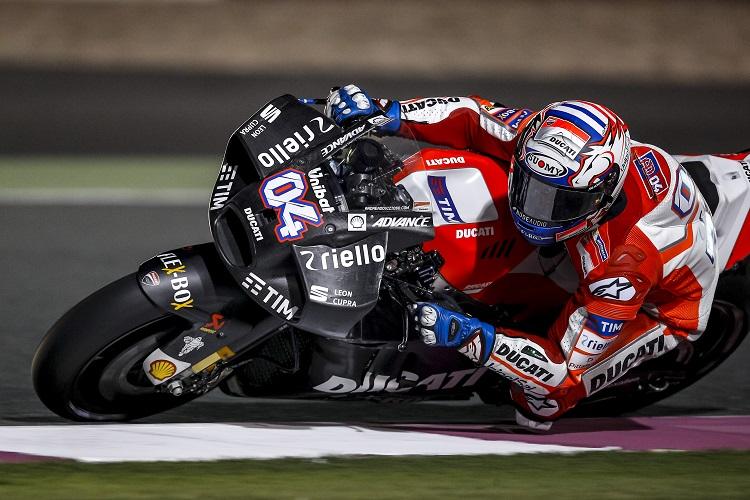 """MotoGP Test Qatar Day 2: Dovizioso, """"I nostri ingegneri hanno fatto un lavoro ottimo, stiamo valutando i pro e i contro"""""""