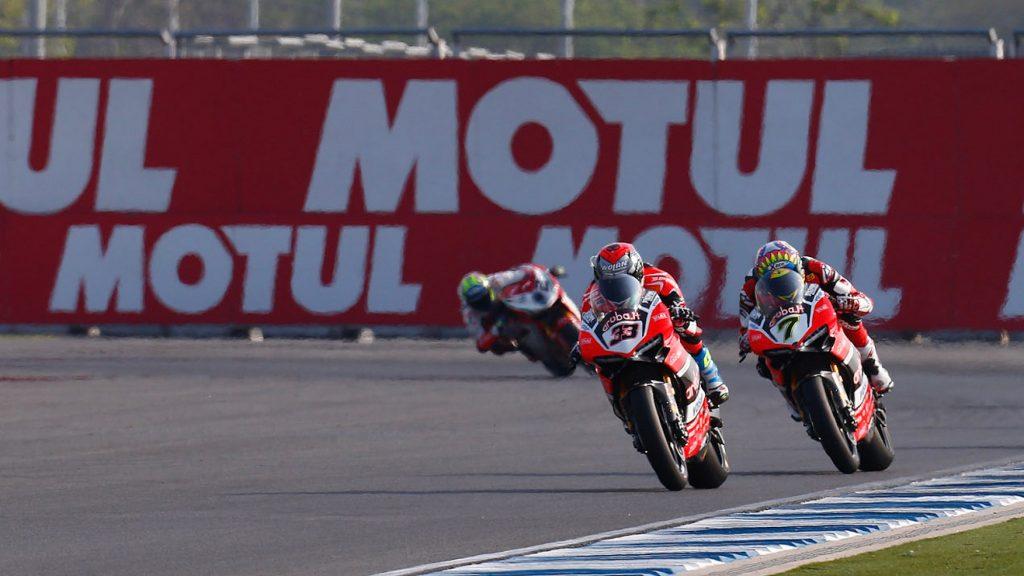 Superbike, Motul Thai Round, Gara 2: Aruba Racing Ducati sorride a metà