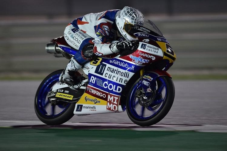"""Moto3 Test Qatar Day3: Fenati, """"Oggi abbiamo girato poco, a causa del vento, ma siamo contenti del lavoro fatto"""""""