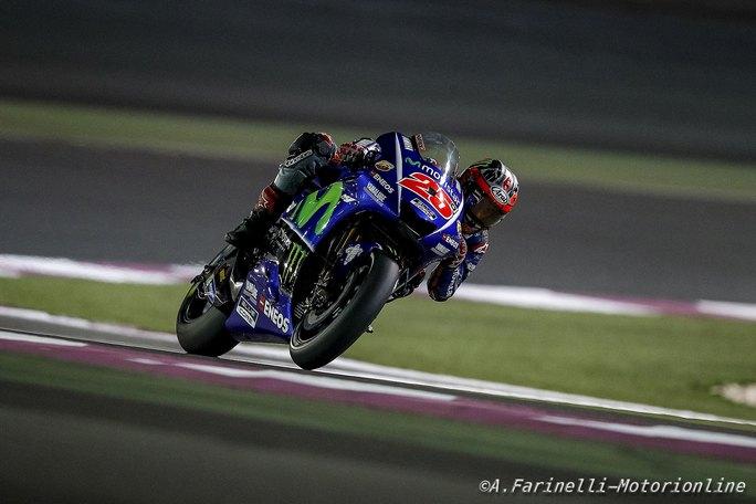 MotoGP Test Qatar Day 2: Vinales detta il passo, Rossi 2°, attardati Marquez e Lorenzo