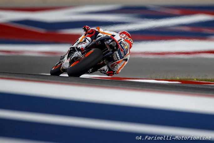 MotoGP Stati Uniti, FP4: Marquez davanti a Pedrosa e Vinales