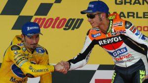 """MotoGP: Valentino Rossi, """"Un film sui miei rivali? Propongo Biaggi"""""""