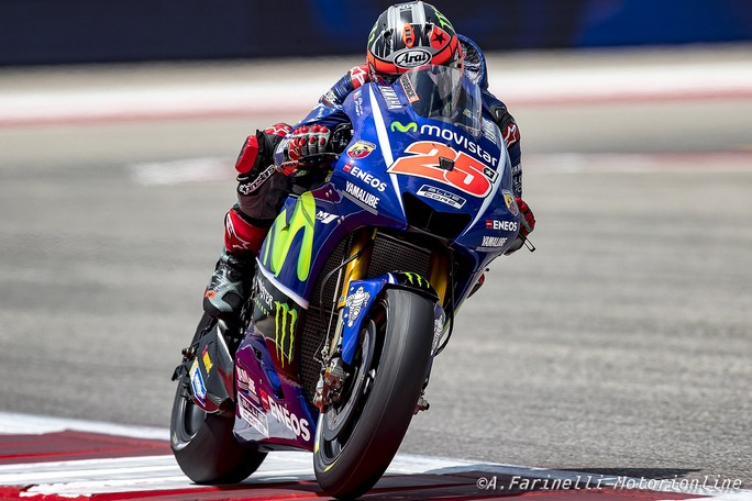 "MotoGP Stati Uniti: Vinales, ""E' stata una caduta veramente strana"""