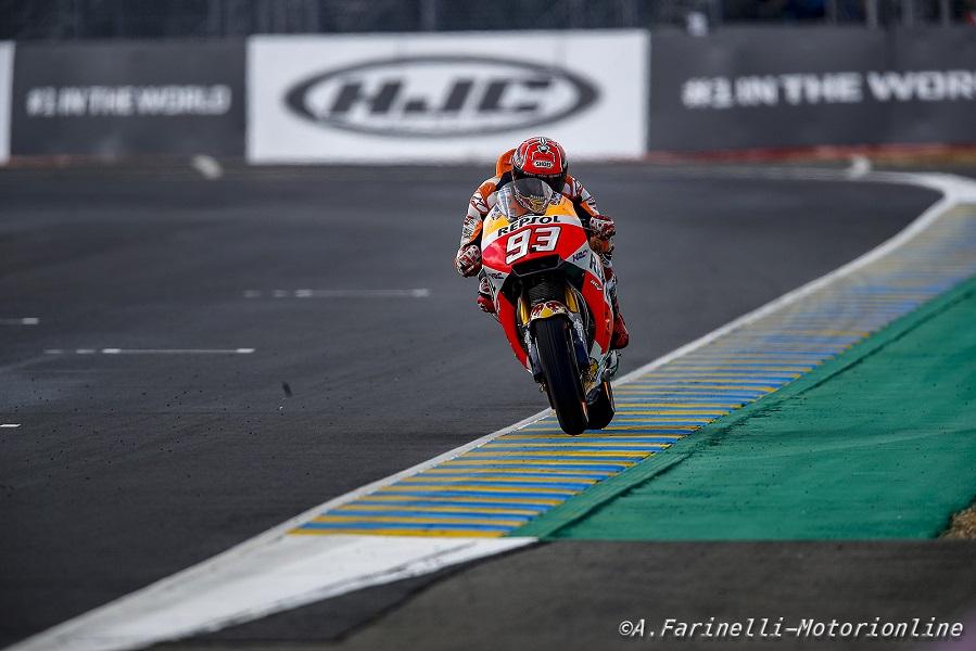 """MotoGP Le Mans: Marquez, """"Ho avuto un piccolo problema con il secondo pneumatico"""""""