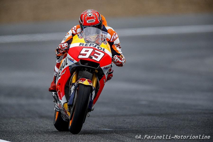 """MotoGP Le Mans: Marquez, """"È positivo avere iniziato bene oggi"""""""