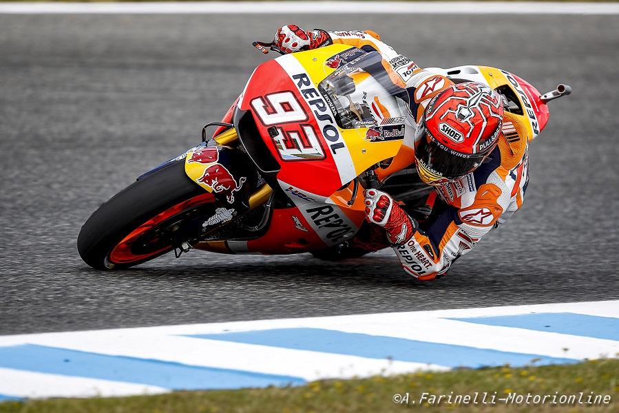 """MotoGP Jerez: Marquez, """"Ho fatto 2 giri buoni ma all'ultimo ho fatto un errore"""""""