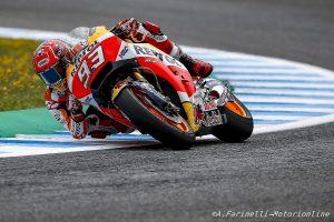 """MotoGP Jerez: Marquez, """"Ho rischiato di cadere 2 volte, ho visto Vinales e Vale dietro e ho preferito non rischiare"""""""