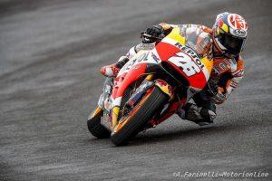 MotoGP Jerez, FP1: Pedrosa è il più veloce sul bagnato, Rossi sedicesimo