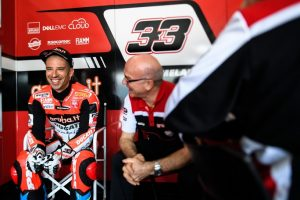 Superbike: Marco Melandri in pista al Mugello