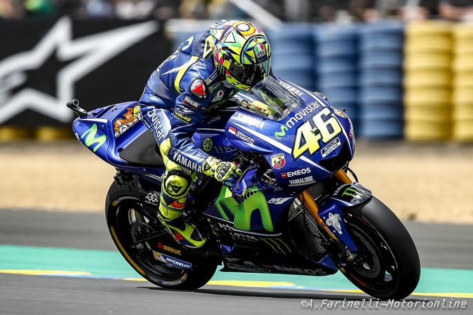 "MotoGP Le Mans: Rossi, ""Peccato per la caduta, stavo facendo una grande gara"""