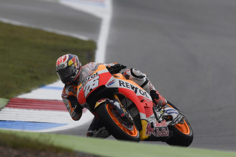 """MotoGP Assen Pedrosa partirà 9° """"Era impossibile correre normalmente oggi"""""""