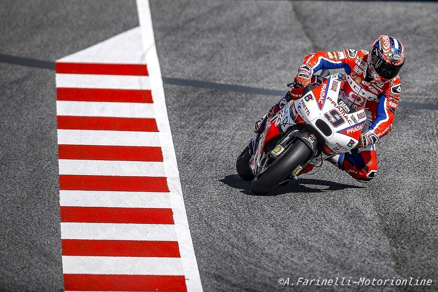 """MotoGP Barcellona: Petrucci, """"Forse ho spinto un po' troppo all'inizio per recuperare"""""""