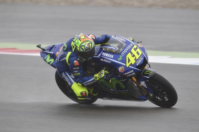 """MotoGP Assen: Valentino Rossi, """"Il nuovo telaio va bene anche sul bagnato"""""""