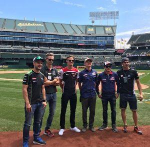 Superbike, Geico US Round: giornata di baseball per i piloti