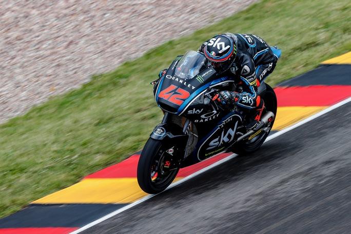 Moto2 Sachsenring, Warm Up: Bagnaia è il più veloce, Corsi è quinto