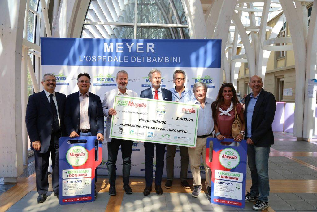 MotoGP: KiSS Mugello raccolti 5mila euro a favore della fondazione Meyer