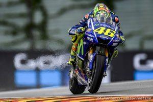 """MotoGP Sachsenring QP: Rossi, """"Poco competitivi sul bagnato, mentre sull'asciutto non è andata male"""""""