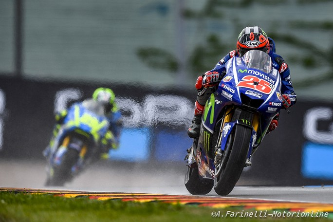 "MotoGP Sachsenring QP: Vinales, ""Sul bagnato non siamo competitivi"""