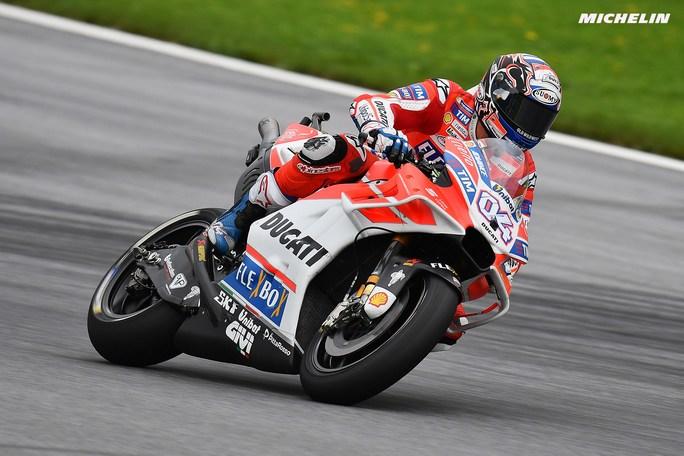 MotoGP Austria, FP2: Dovizioso porta la Ducati al vertice, Rossi fuori dalla Top Ten