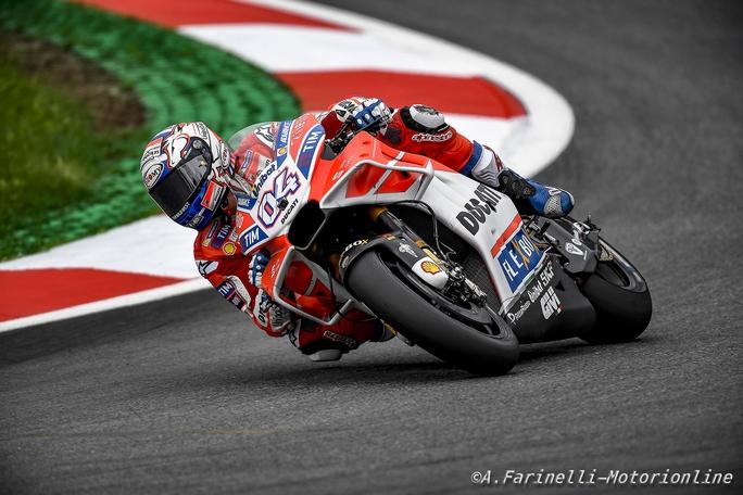 Gp d'Austria: prove libere, Dovizioso vola, Marquez tonico, male Rossi
