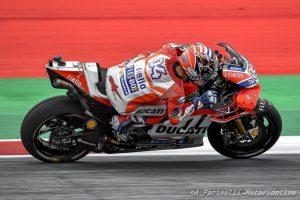 MotoGP Austria, Warm Up: Dovizioso porta la Ducati in vetta, Rossi è sesto