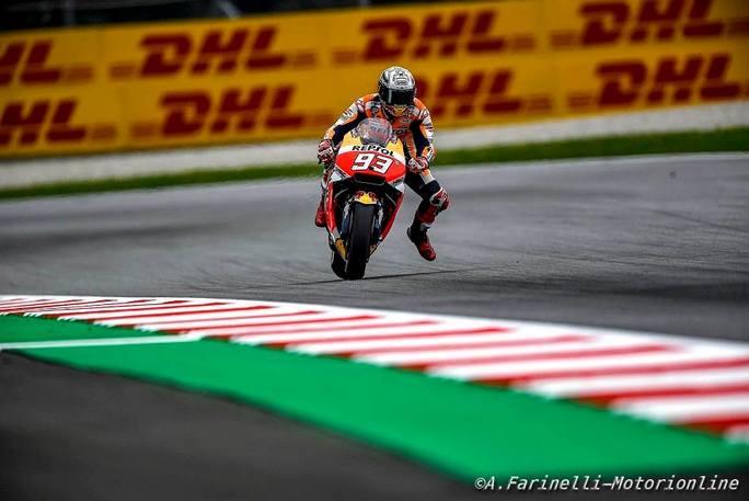 MotoGP Austria, Qualifiche: Marquez si aggiudica la 70esima pole in carriera, vola Dovi 2°, Rossi in terza fila