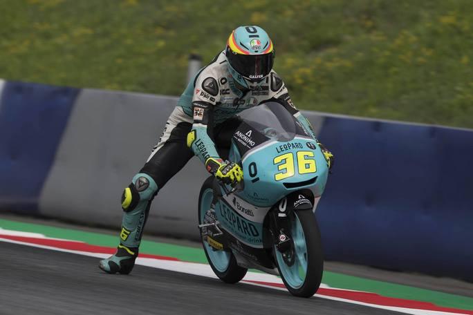Moto3 Austria, Warm Up: Mir davanti a Fenati, Bastianini è quarto