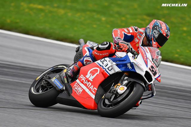 """MotoGP Austria, Day 1: Petrucci, """"Con le gomme nuove non so cosa sia successo"""""""