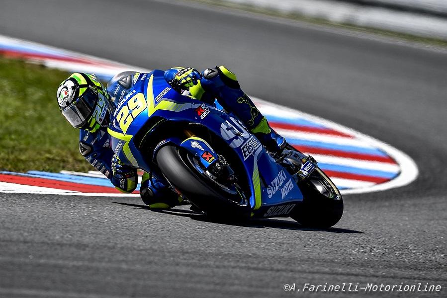 """MotoGP Brno, Gara: Iannone, """"Al cambio moto avevo una slick davanti e una rain dietro"""""""