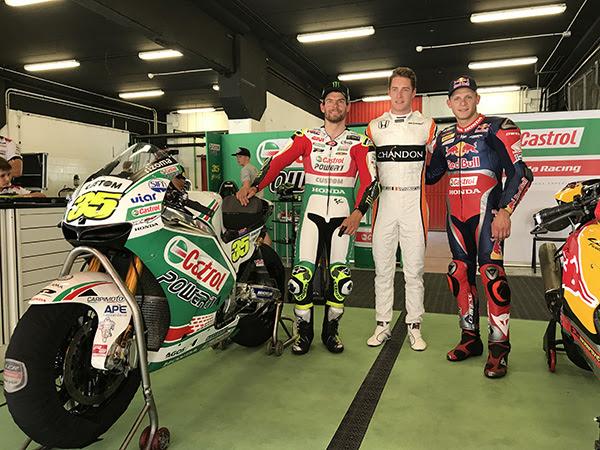 MotoGP: Crutchlow in pista per un evento Castrol all'indomani dell'infortunio